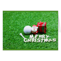 Merry Christmas to golfer Card