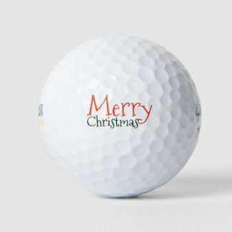Merry Christmas to golfer Golf Balls