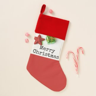 Merry Christmas to golfer with Christmas ornament Christmas Stocking
