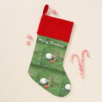 Merry Christmas to golfer with golf ball Christmas Stocking