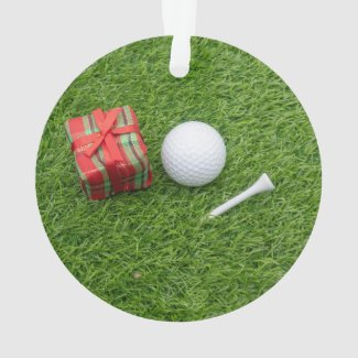Merry Christmas to golfer with golf ball home deco Ornament