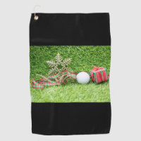 Merry Christmas to golfer with  towel