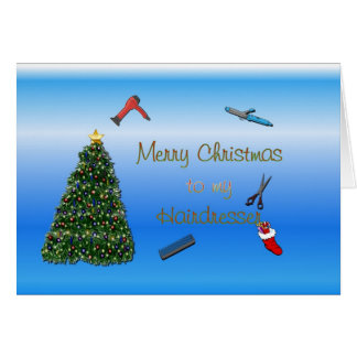 Merry Christmas to hairdresser hairstylist Card