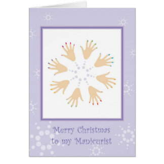 Merry Christmas to Manicurist Greeting Card