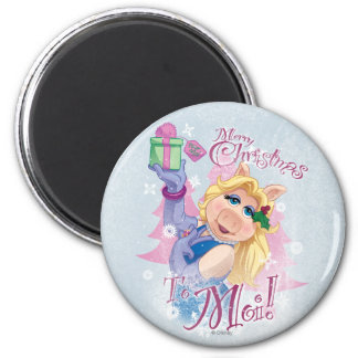 Merry Christmas to Moi 2 Inch Round Magnet