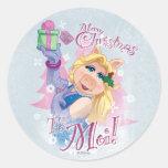 Merry Christmas to Moi Round Stickers