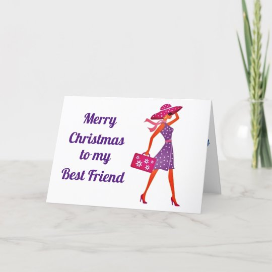 merry christmas to my best friend holiday card  zazzle