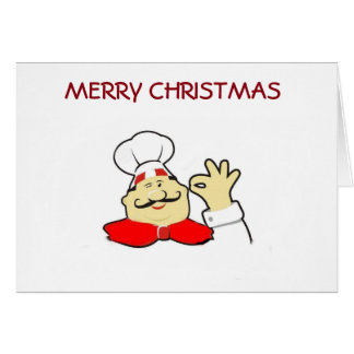MERRY CHRISTMAS TO MY FAVORITE CHEF CARD