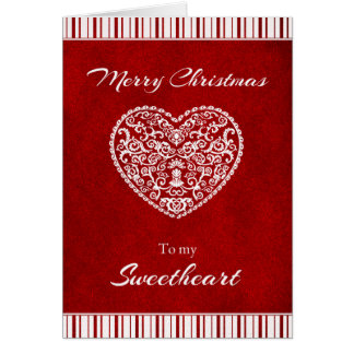 Merry Christmas to my Sweetheart Card