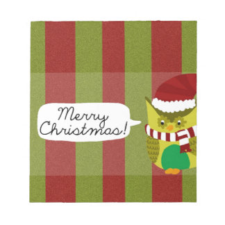 """Merry Christmas to """"Owl"""" Note Pad"""