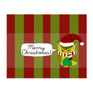 Merry Christmas to Owl Postcards