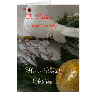 Merry Christmas to Pastor and Family Card
