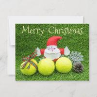 Merry Christmas to tennis player with Santa Claus Card