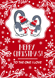merry christmas to the one i love greeting cards - Love Christmas Cards