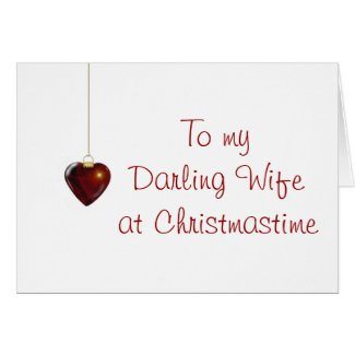 Merry Christmas to wife from husband Card
