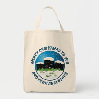 Merry Christmas To You And Your Ancestors Bags