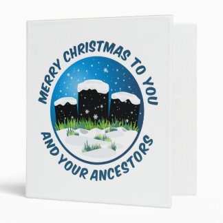 Merry Christmas To You And Your Ancestors Binders
