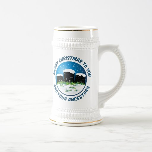 Merry Christmas To You And Your Ancestors 18 Oz Beer Stein