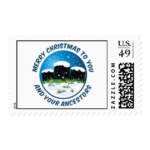 Merry Christmas To You And Your Ancestors Stamps