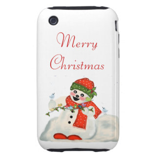 Merry Christmas Tough iPhone 3 Cover