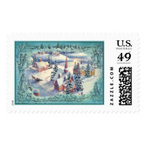 MERRY CHRISTMAS TOWN by SHARON SHARPE Postage