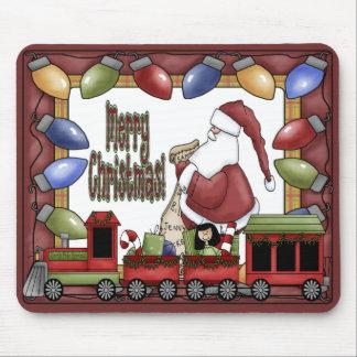 Merry Christmas Train Mousepad