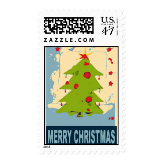 Merry Christmas Tree 2 Postage
