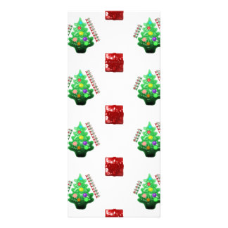 Merry Christmas Tree and Gift Rack Card Design