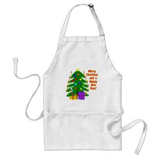 Merry Christmas Tree Aprons