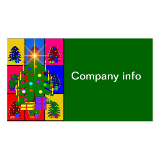 Merry Christmas Tree Business Card