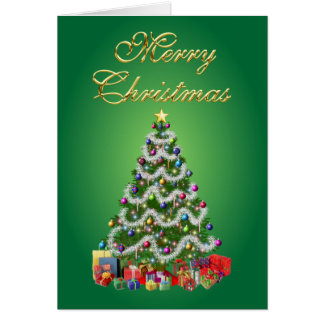Merry Christmas Tree Card