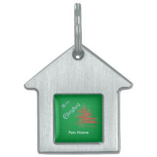 Merry Christmas Tree, Customize Pet ID Pet Tag