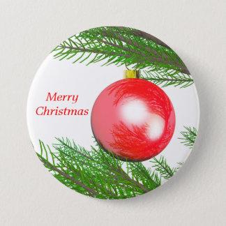 Merry Christmas Tree Decoration Pinback Button