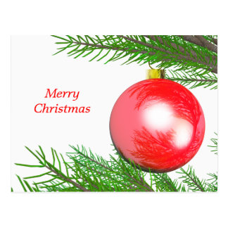 Merry Christmas Tree Decoration Postcard