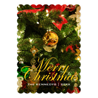 Merry Christmas - Tree decorations Card