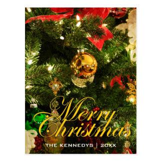 Merry Christmas - Tree decorations Postcard