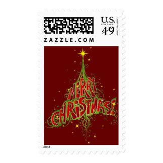 Merry Christmas Tree Design Stamp