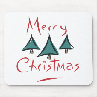 Merry Christmas Tree Doodle Mousepads