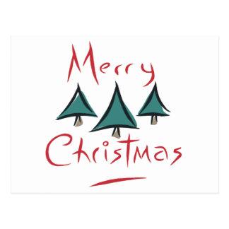 Merry Christmas Tree Doodle Postcard