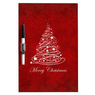 Merry Christmas Tree Dry Erase Board
