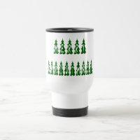 Merry Christmas Tree Font 15 Oz Stainless Steel Travel Mug