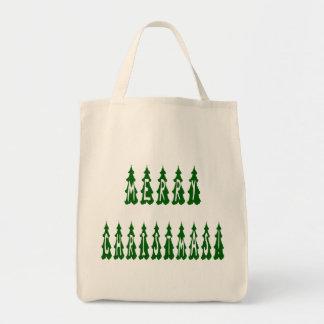 Merry Christmas Tree Font Bag