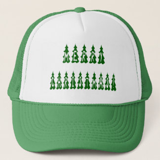 Merry Christmas Tree Font Trucker Hat
