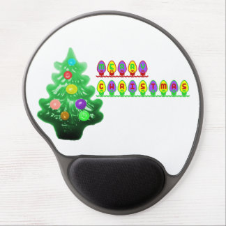 Merry Christmas Tree Gel Mouse Pad
