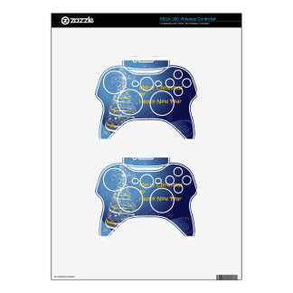 merry christmas tree happy new year xbox 360 controller skins