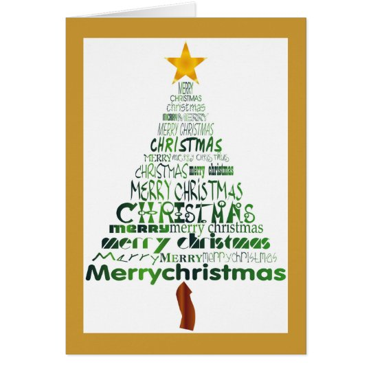 Merry Christmas Tree Holiday Card