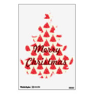 Merry Christmas Tree Holiday Removable Wall Decal