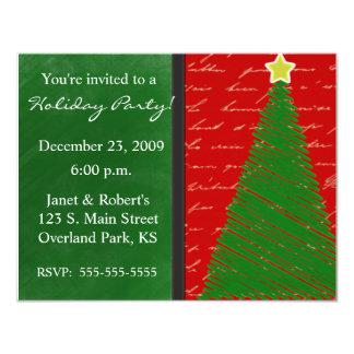 Merry Christmas tree Custom Invitations
