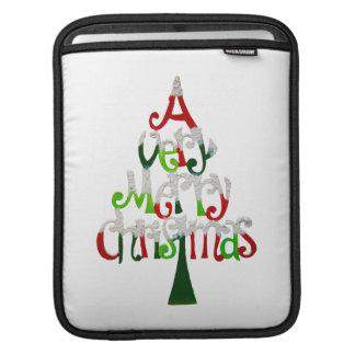 Merry Christmas Tree iPad Sleeve