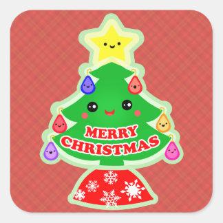 Merry Christmas Tree Kawaii Gift Stickers